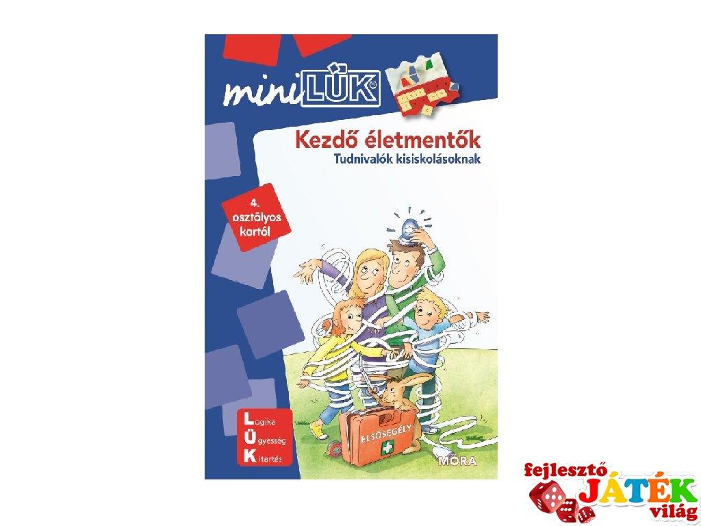 Lük Mini Kezdő életmentők 4. osztály, egyszemélyes fejlesztő logikai játék (9-12 év)