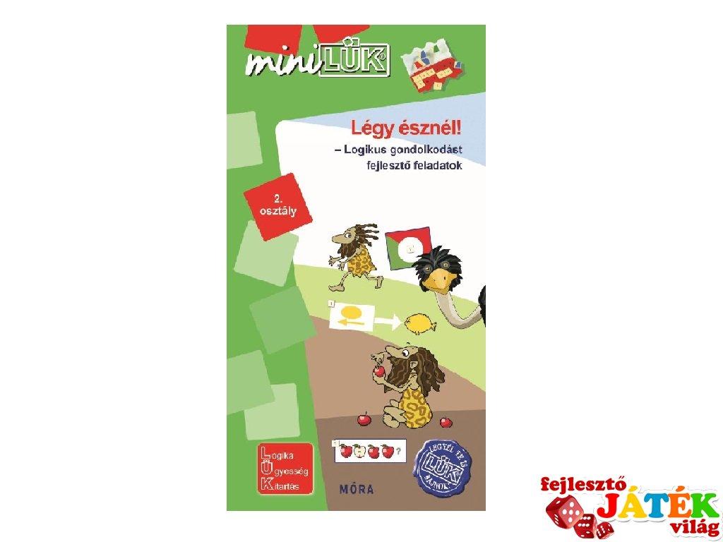 Lük Mini Légy észnél! 2. osztály, egyszemélyes fejlesztő logikai játék (7-9 év)
