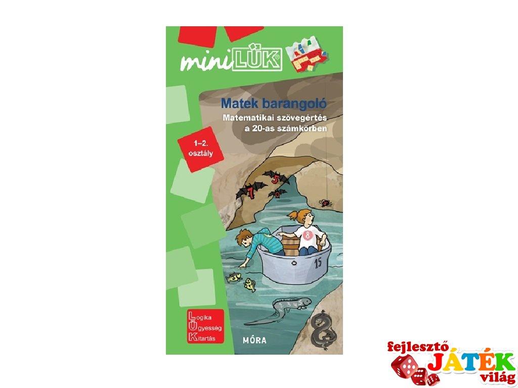Lük Mini Matekbarangoló 1-2. osztály, egyszemélyes fejlesztő logikai játék (6-8 év)