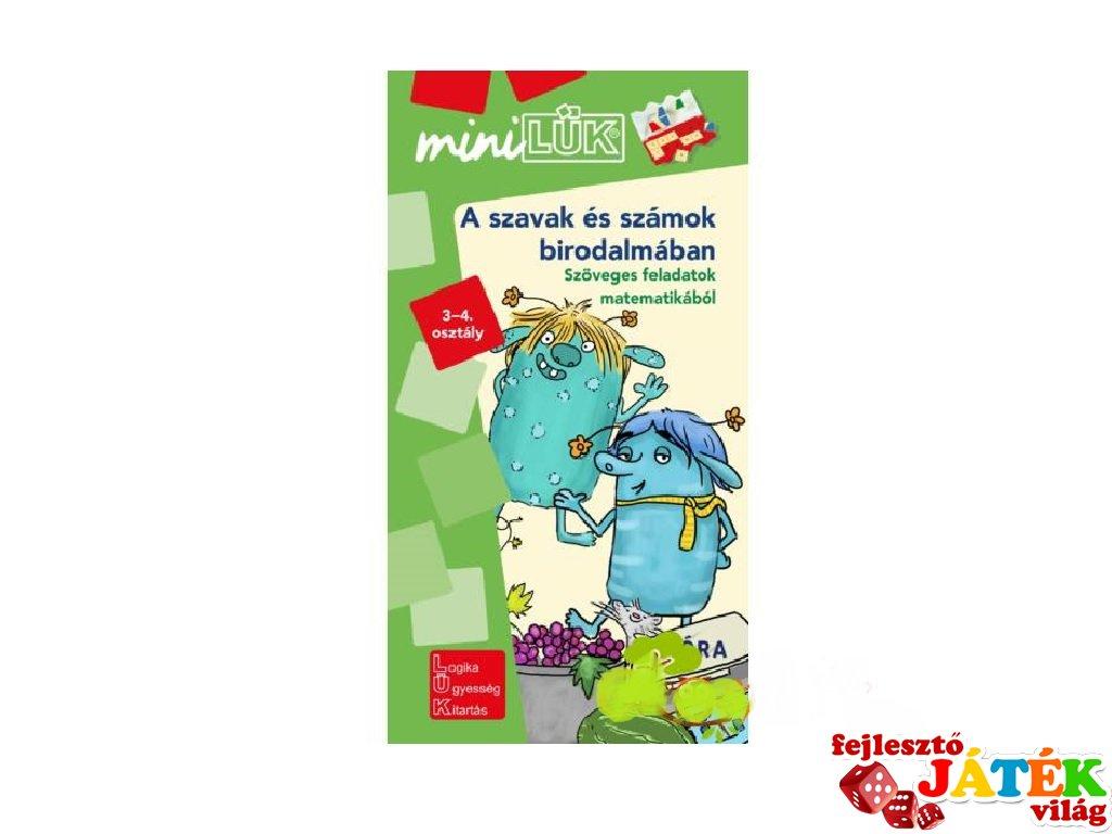 Lük Mini Matematika: A szavak és számok birodalmában 3-4. osztály, egyszemélyes fejlesztő logikai játék (8-11 év)