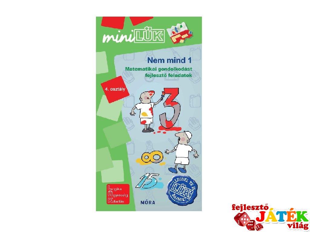 Lük Mini Nem mind 1 matematika 4. osztály, egyszemélyes fejlesztő logikai játék (9-11 év)