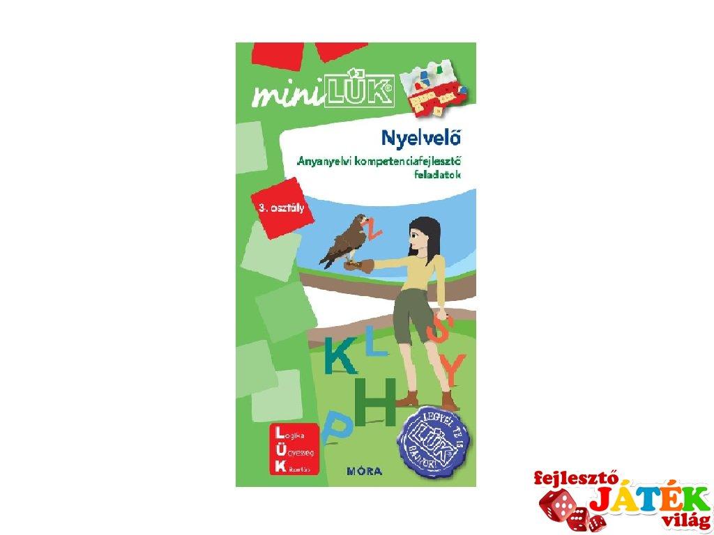 Lük Mini Nyelvelő 3. osztály, egyszemélyes fejlesztő logikai játék (8-10 év)