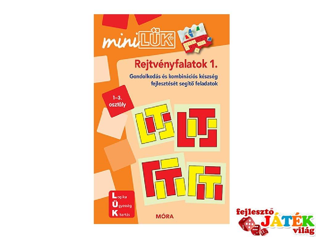 Lük Mini Rejtvényfalatok 1. 1-3. osztály, egyszemélyes fejlesztő logikai játék (6-10 év)