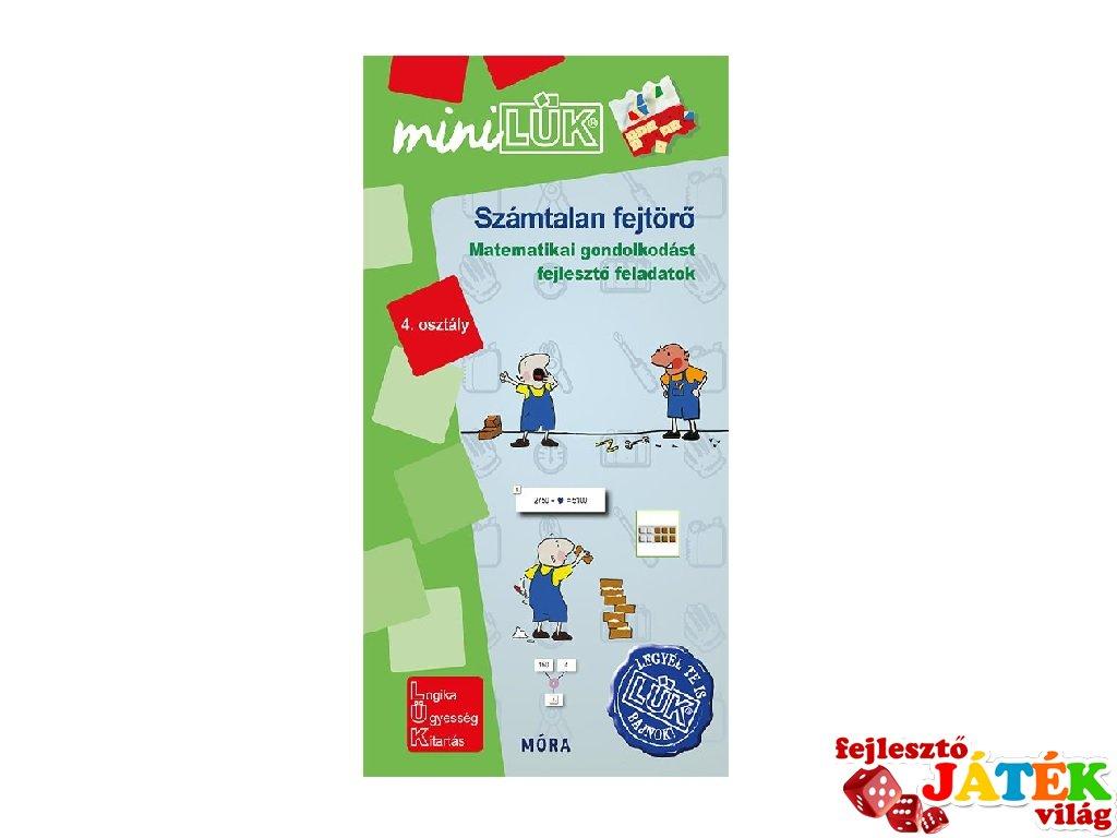 Lük Mini Számtalan fejtörő 4. osztály, egyszemélyes fejlesztő logikai játék (9-11 év)