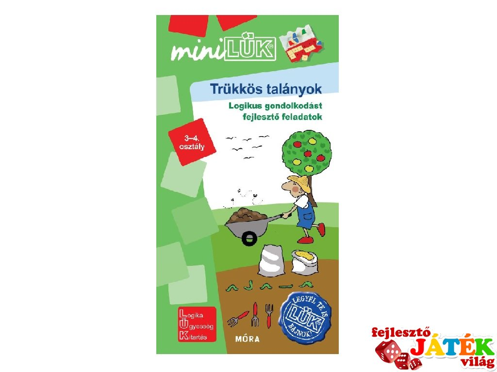 Lük Mini Trükkös talányok 3-4. osztály, egyszemélyes fejlesztő logikai játék (8-11 év)