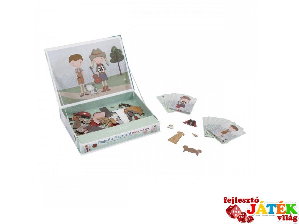 Mágneses öltöztető játék Rosa & Jim,Little Dutch kreatív szett (4756, 3-6 év)