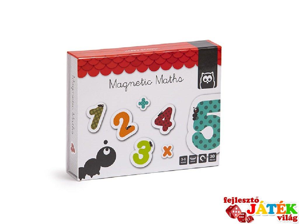 Mágneses számkészlet, 40 db-os tanulójáték (3-10 év)