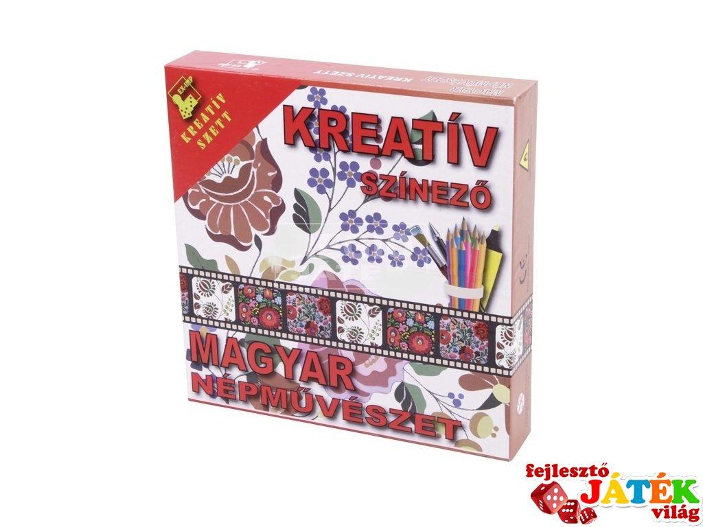 Magyar népművészet kreatív színező füzet (6-99 év)