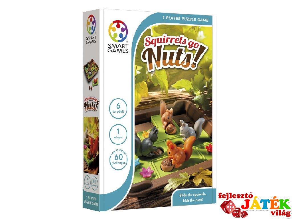 Makkant mókusok Smart Games logikai játék (60 feladvány, 6-99 év)