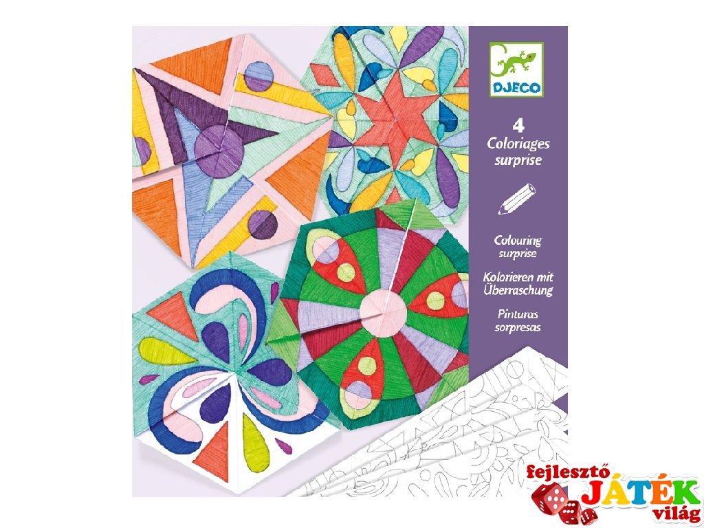 Mandala színező rozetták, Djeco kreatív készlet - 9656 (6-9 év)