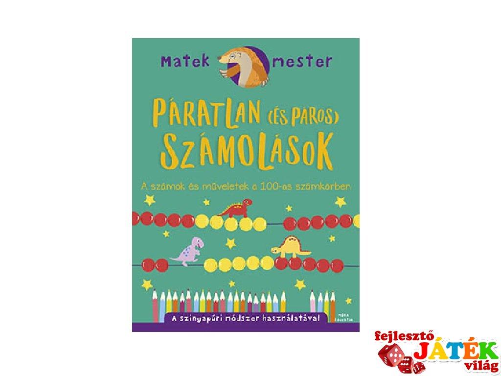 Matek Mester: Páratlan és páros számolások, műveletek 100-ig, 2.osztály (7-9 év)