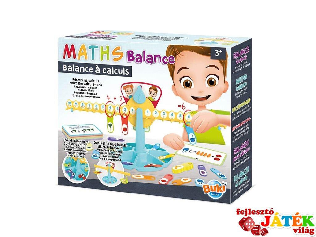 Matematikai mérleg, Buki tanulás segítő logikai játék (5604, 3-7 év)