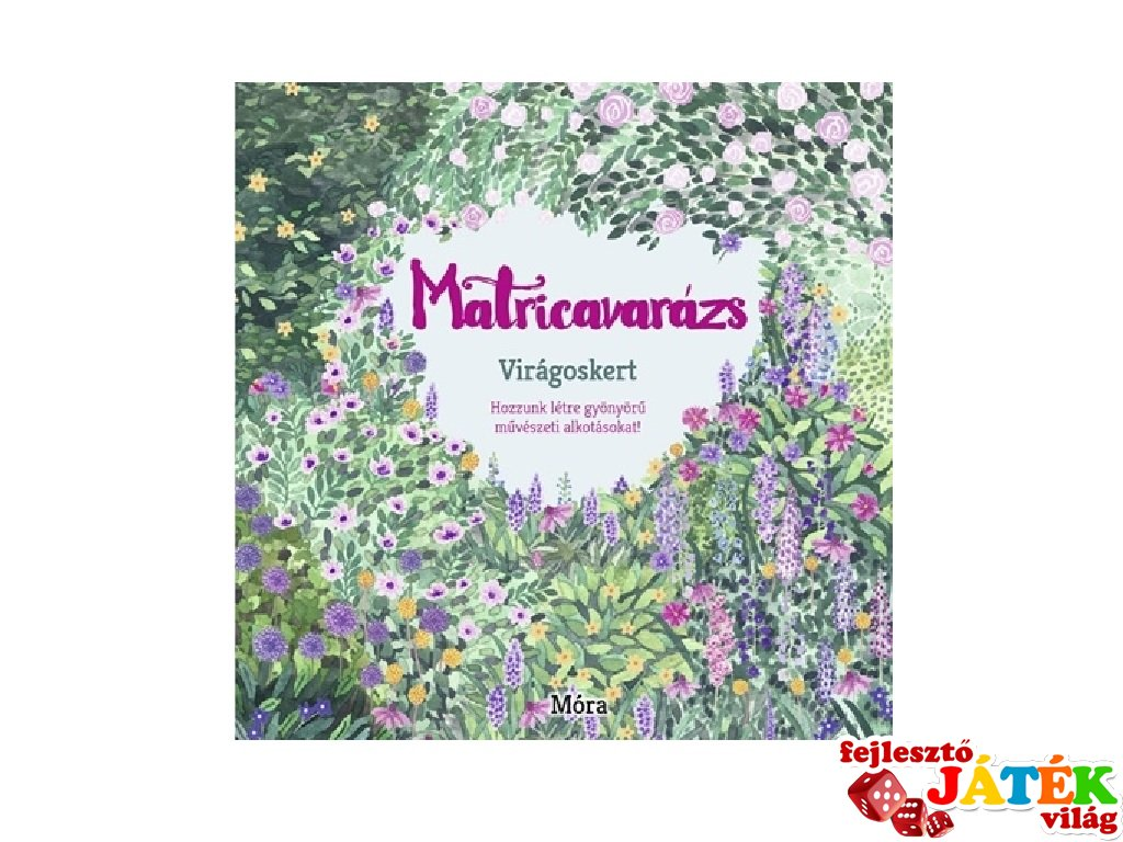 Matricavarázs Virágoskert, felnőtt színező (MO)