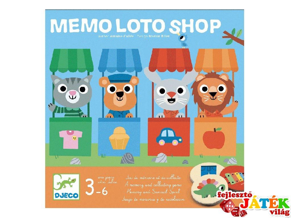 Memo Lottó Shop, Djeco memória társasjáték - 8537 (3-6 év)