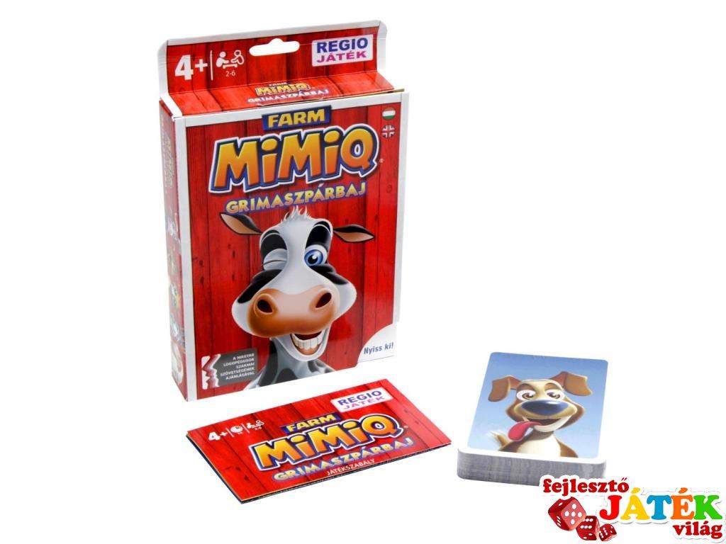 MimiQ Farm, a grimaszpárbaj (vicces partijáték, kártyajáték 4 99 év)