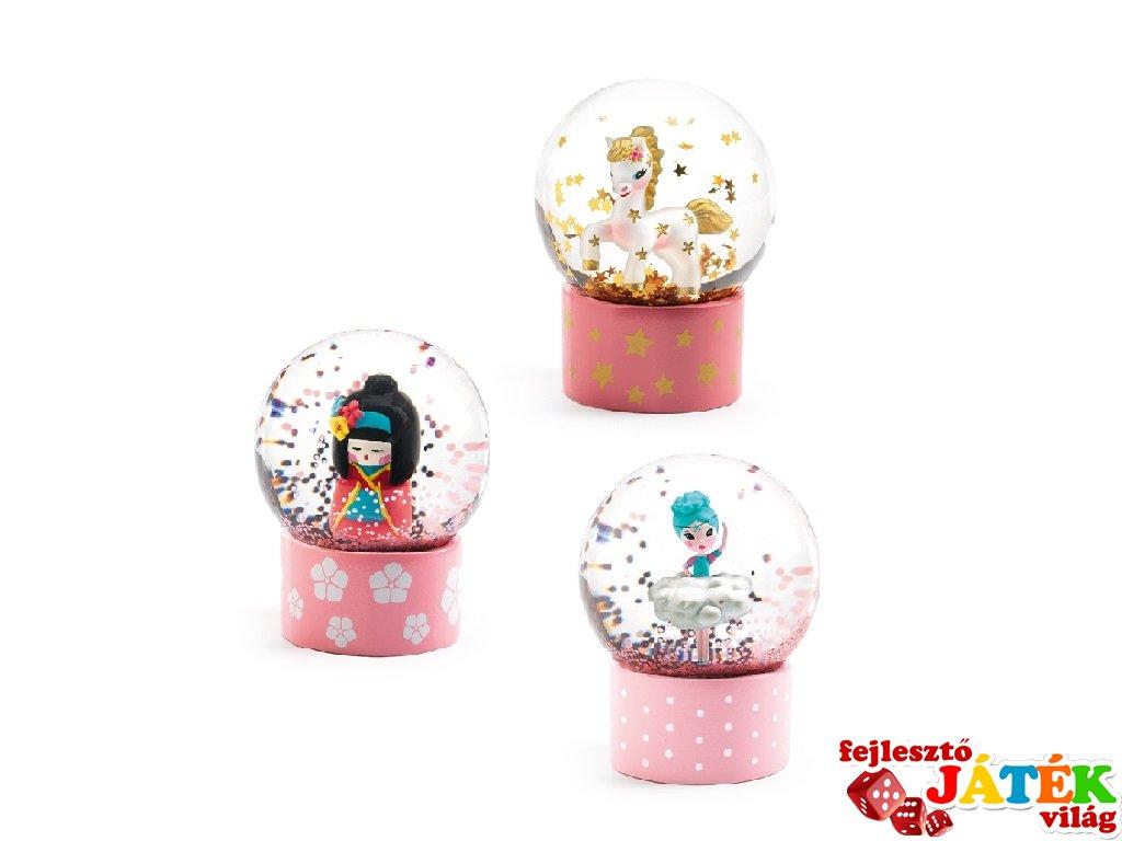 Mini Djeco hógömb: balerina, ló, gésa - 3440 (az ár 1 db-ra vonatkozik)