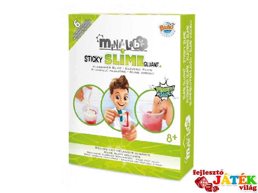 Mini laboratórium, slime készítés, tudományos kísérletező játék (Buki, 8-14 év)