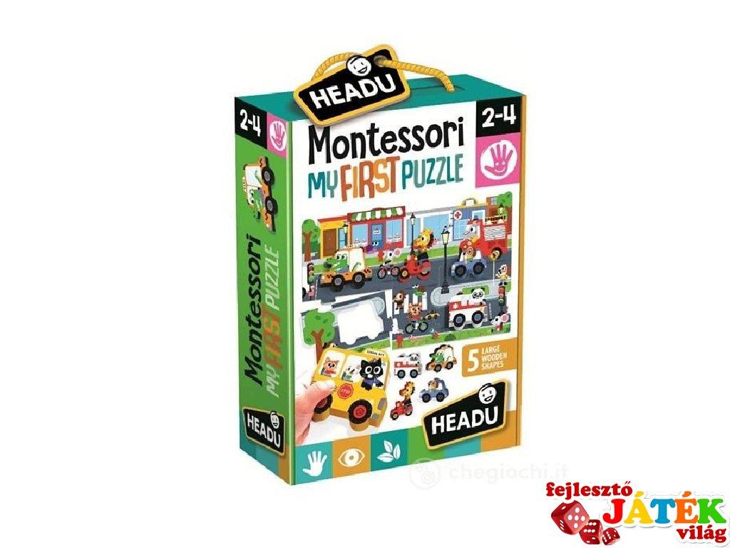 Montessori első puzzle A város, bébi kirakó (HED, 2-4 év)