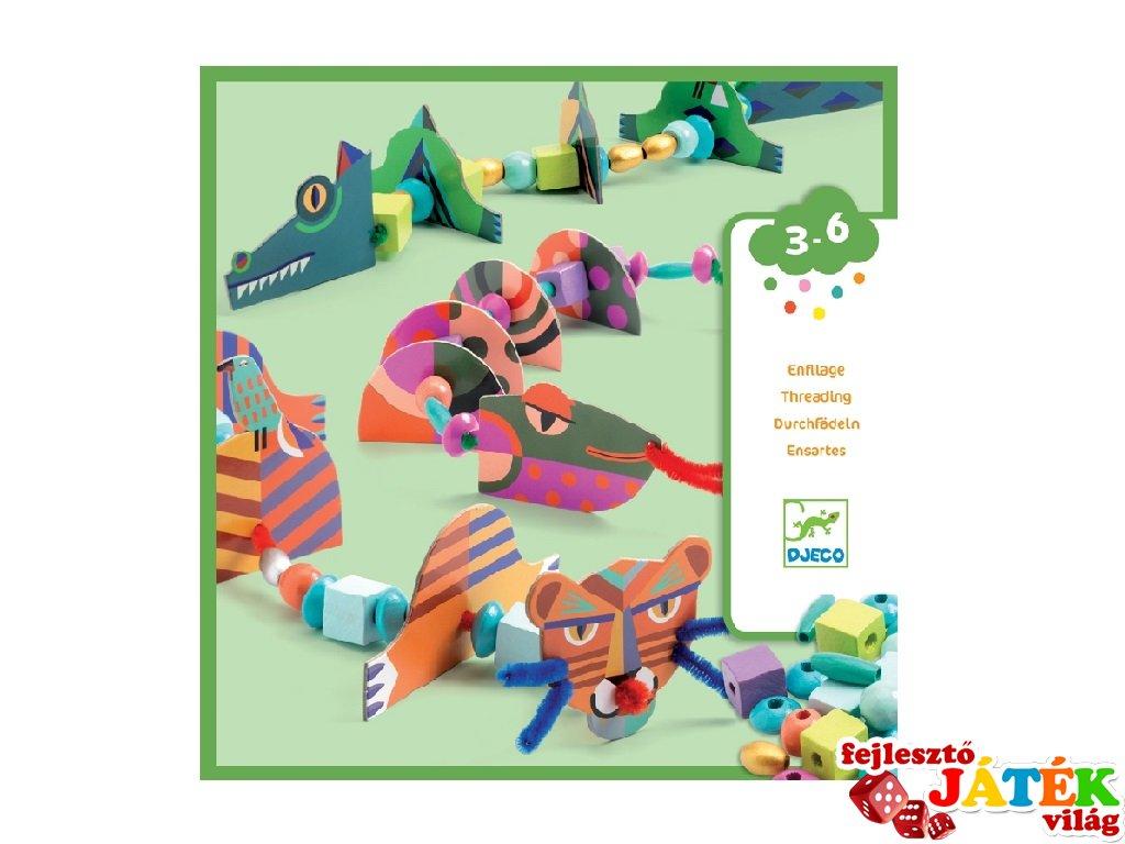 My animals készíts állatokat, Djeco kreatív szett - 8978 (3-6 év)