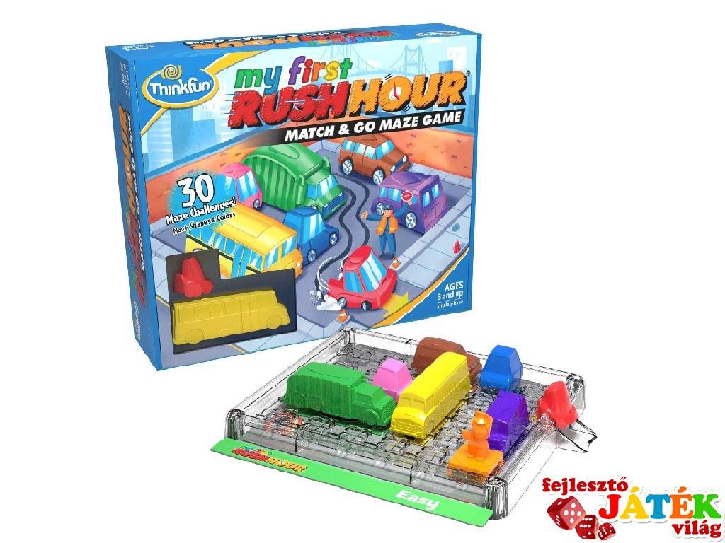 My First Rush Hour Csúcsforgalom társasjáték, egyszemélyes logikai játék (3-6 év)