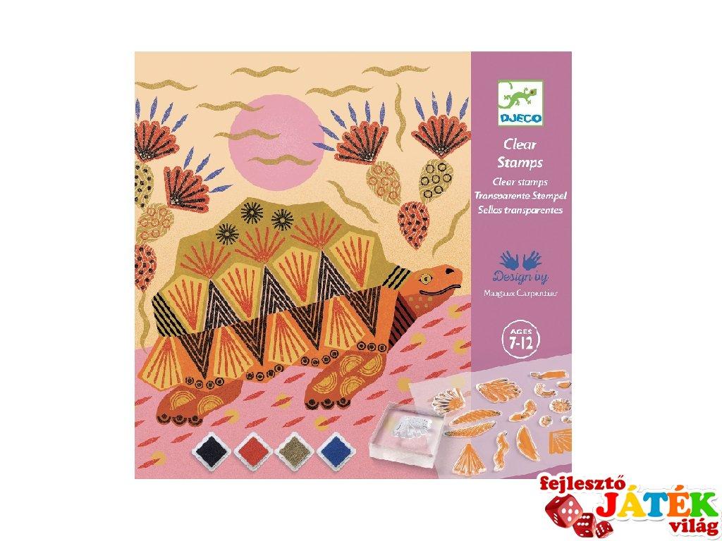 Nyomdakészlet Minták és állatok, Djeco kreatív szett - 8966 (7-12 év)