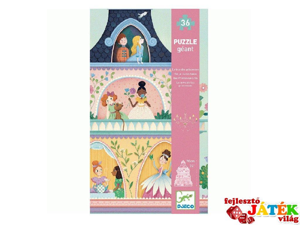 Óriás puzzle A hercegnők kastélytornya, Djeco 36 db-os kirakó - 7130 (4-7 év)