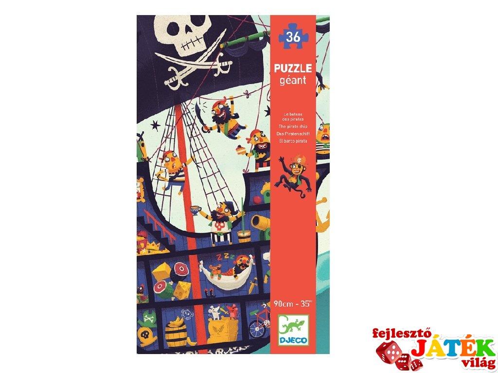 Óriás puzzle Kalózhajó, Djeco 36 db-os kirakó - 7129 (4-7 év)