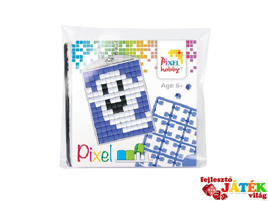Pixelhobby Kulcstartó készlet, szellem (23033, 1db kulcstartó alaplap + 3 szín, 7-99 év)