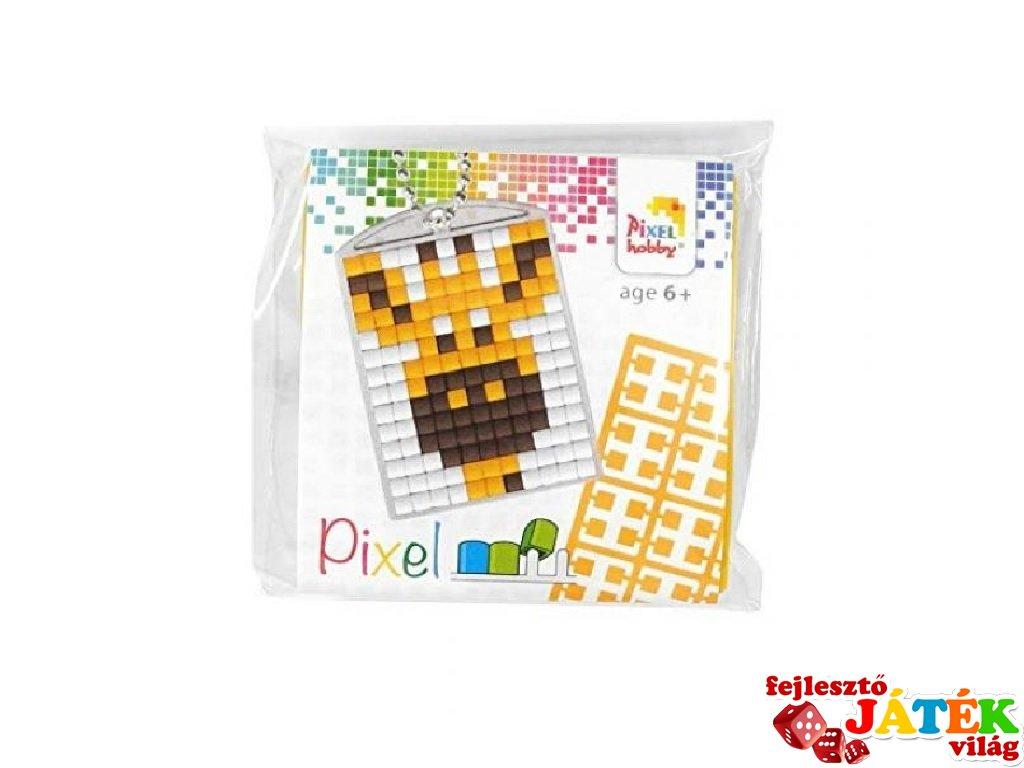 Pixelhobby Kulcstartó készlet, zsiráf (23027, 1db kulcstartó alaplap + 3 szín, 7-99 év)