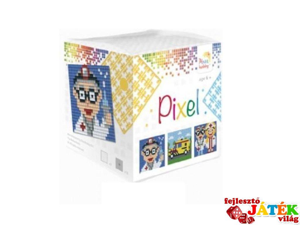 Pixelhobby, Pixel kocka, mentő (29010, 3db 6x6 cm-es képhez, 7-99 év)