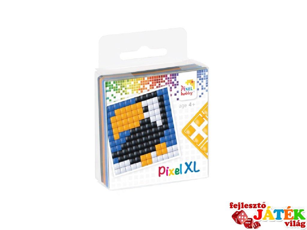 Pixelhobby, Pixel XL készlet, tukán (27012, 1db 6x6 cm-es alaplap, 4 szín, 4-6 év)
