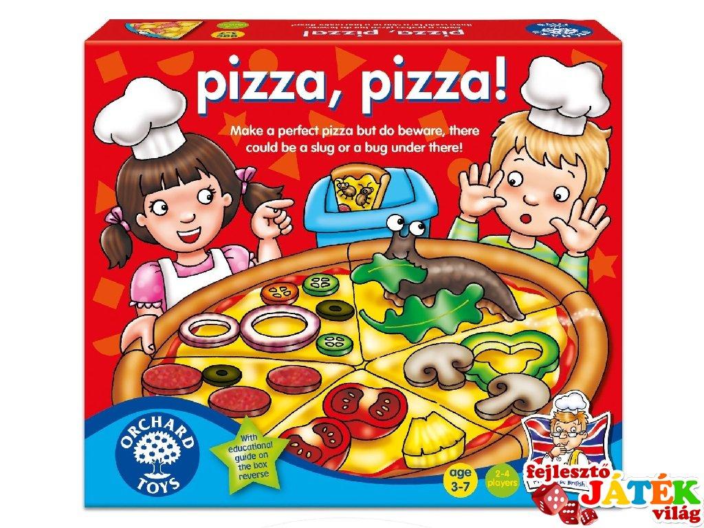 Pizza, pizza! (Orchard, szín-, és formafelismerő, pizzakészítő társasjáték, 3-7 év)