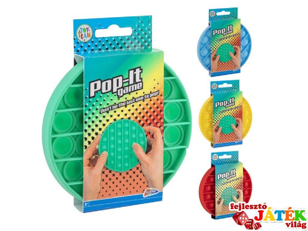 Pop-it buborékpukkasztó játék több színben (1 db)