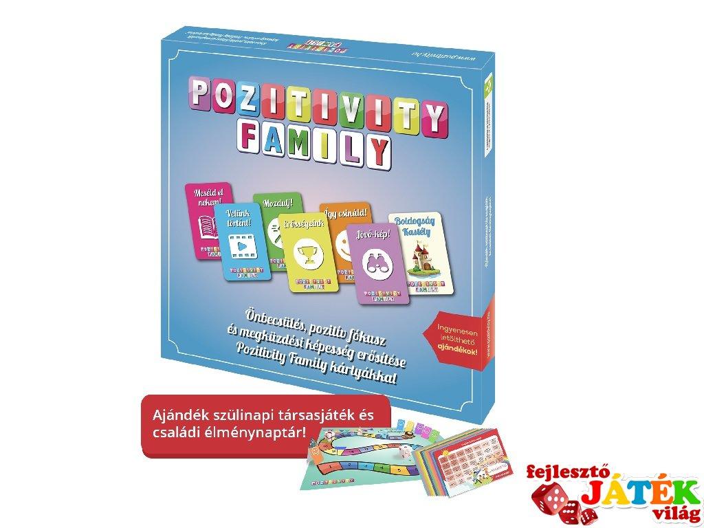 Pozitivity Family, a pozitív gondolkodás társasjátéka (5-99 év)