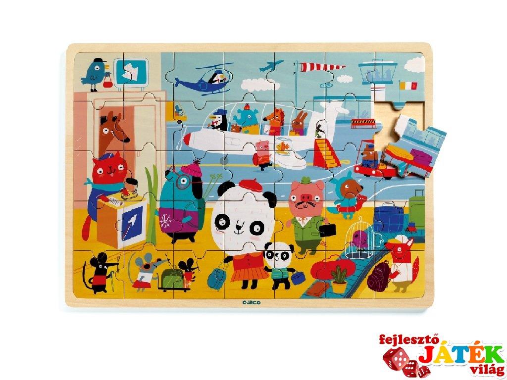 Puzzlo Airport, Djeco 35 db-os fa puzzle - 1818 (3-6 év)