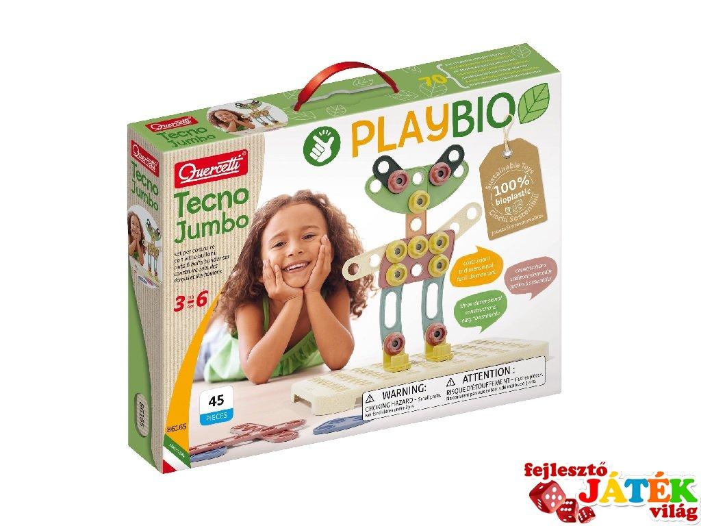 Quercetti Play Bio Tecno Jumbo, 42 db-os építőjáték (3-6 év)