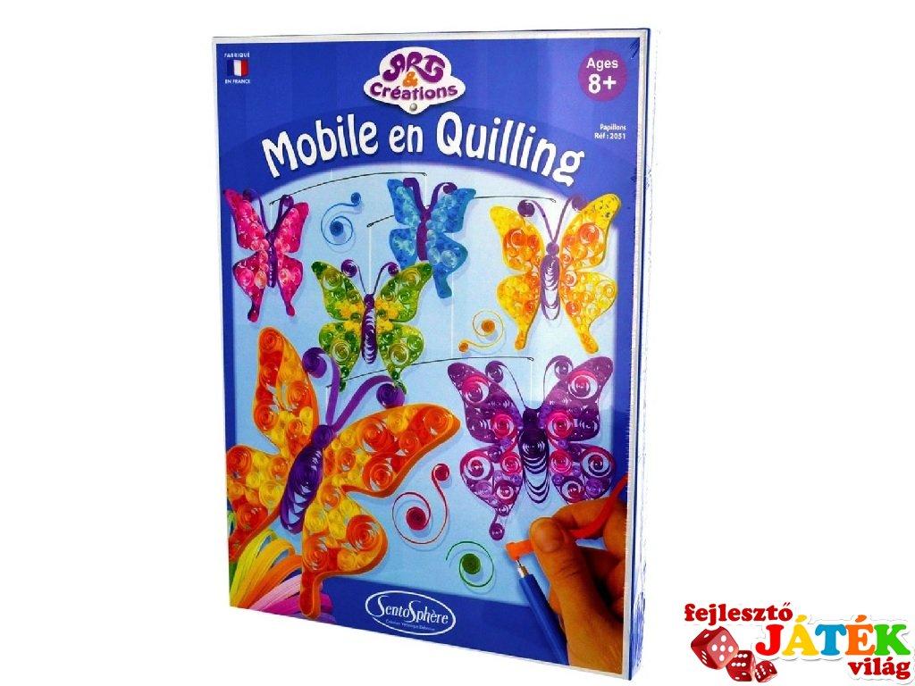 Quilling papírdísz készítő, Pillangók (Sentosphere, kreatív készlet, 8-12 év)