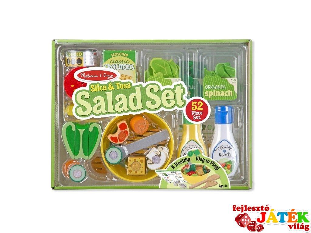 Saláta készítő szett, Melissa&Doug 52 db-os szerepjáték (3-8 év)