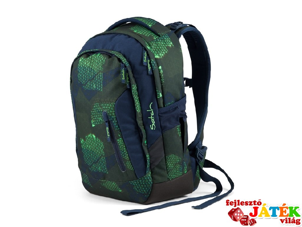 Satch Sleek ergonómikus hátizsák, Infra Green (10-99 év)