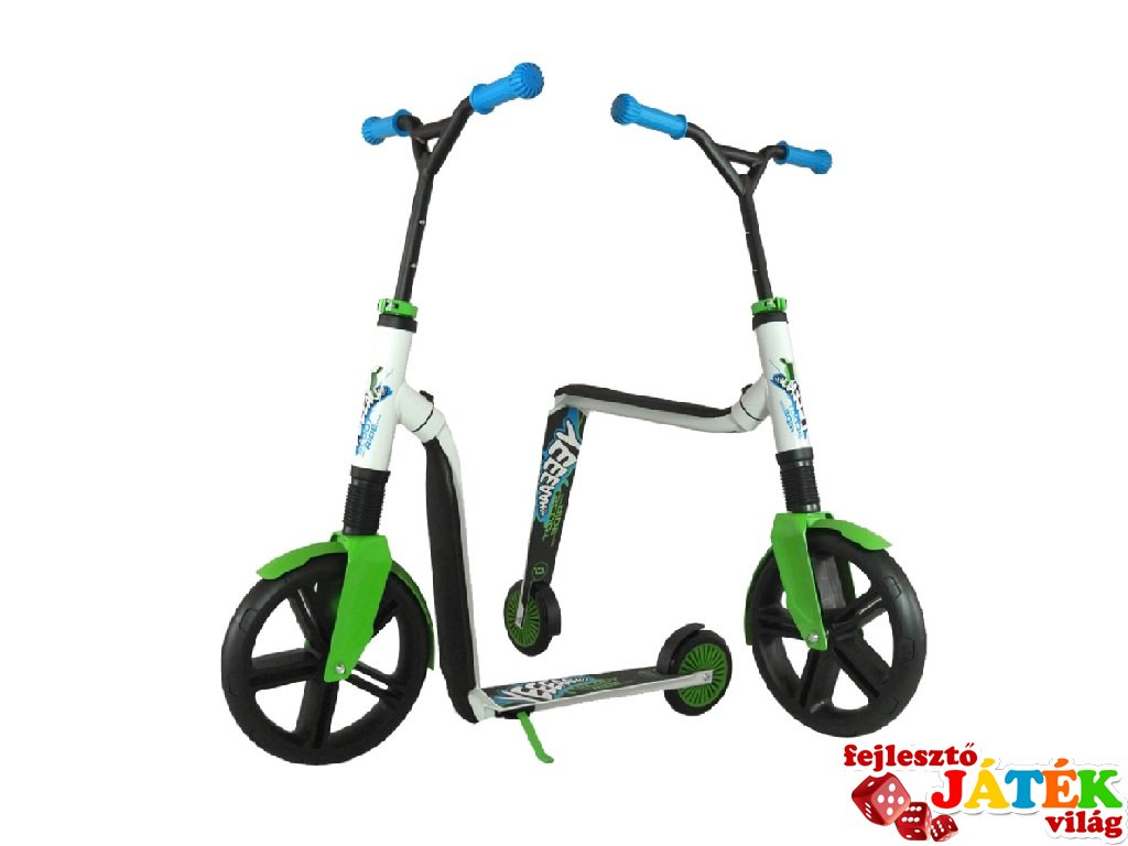 Scoot & Ride Highway gangster, 2 in 1 futóbicikli és roller, Fehér-zöld (5-99 év, 100 kg-ig)