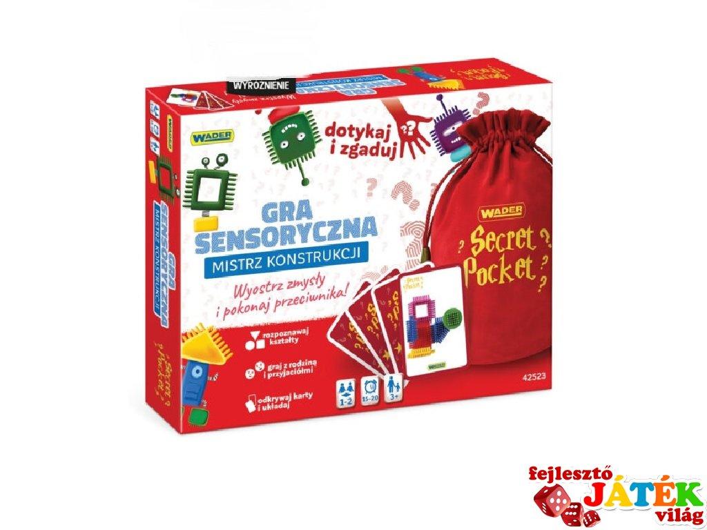 Secret Pocket Titkos zseb, építőmester társasjáték (3-8 év)