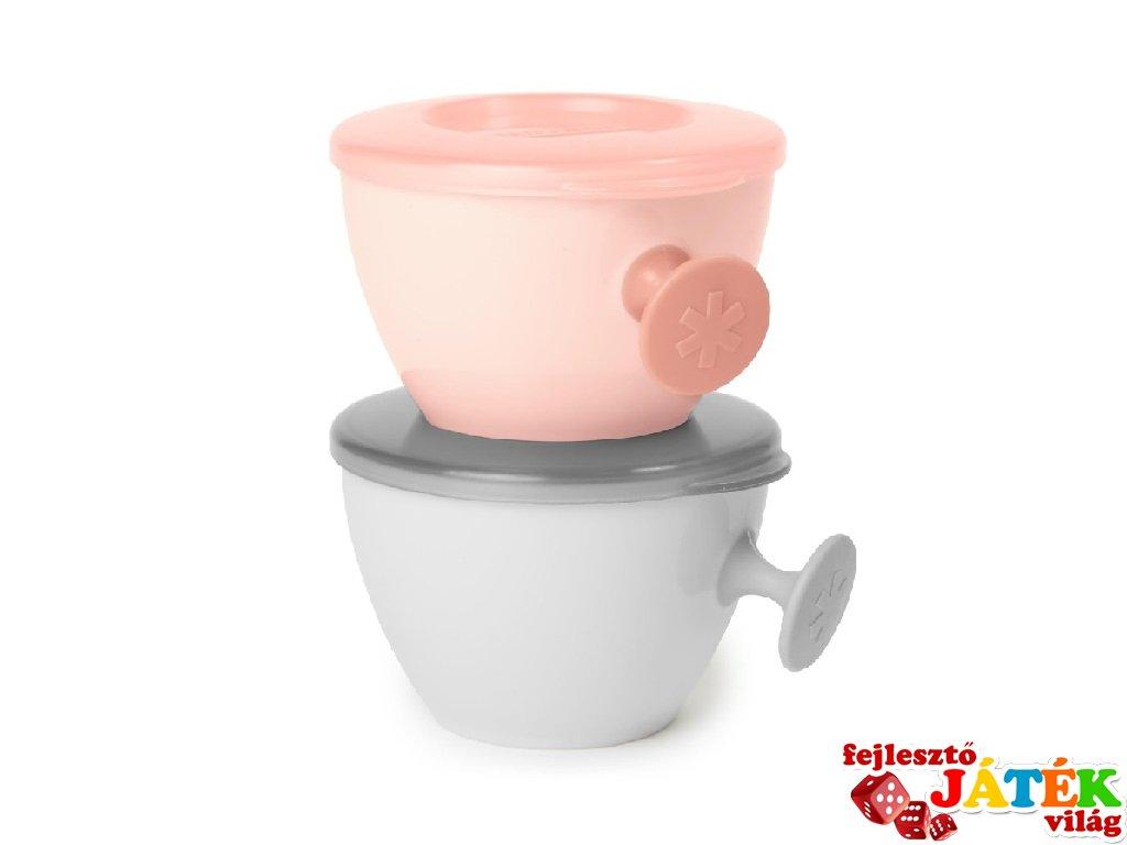 Skip Hop ergonómikus tálka 2 db, baba etetés (rózsaszín, szürke)