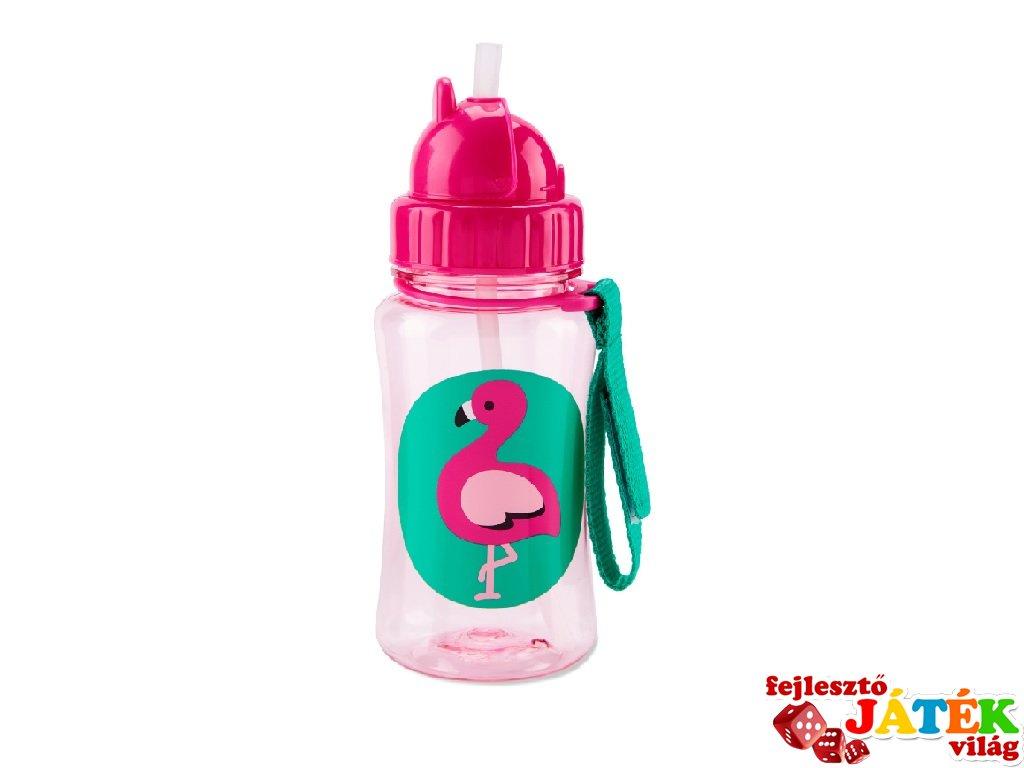 Skip Hop Kulacs szívószállal, Flamingó
