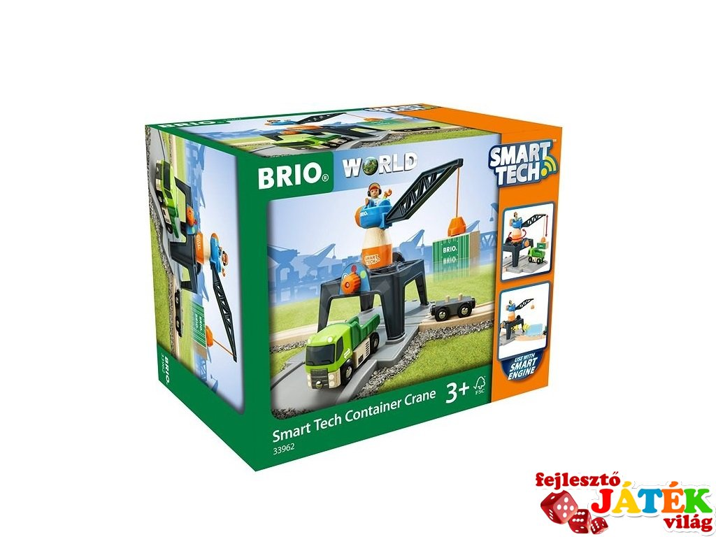 Smart Tech konténer daru, Brio vonatos fajáték (33962, 3-10 év)