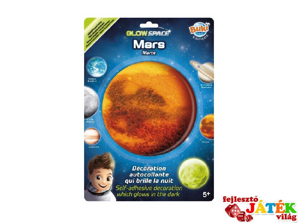 Sötétben világító bolygó Mars, Buki gyerekszoba kiegészítő