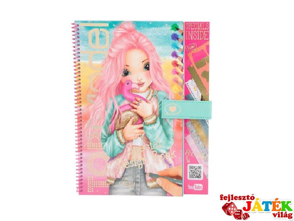 Special, Top Model flamingó ruhatervező könyv, kreatív játék (8-12 év)