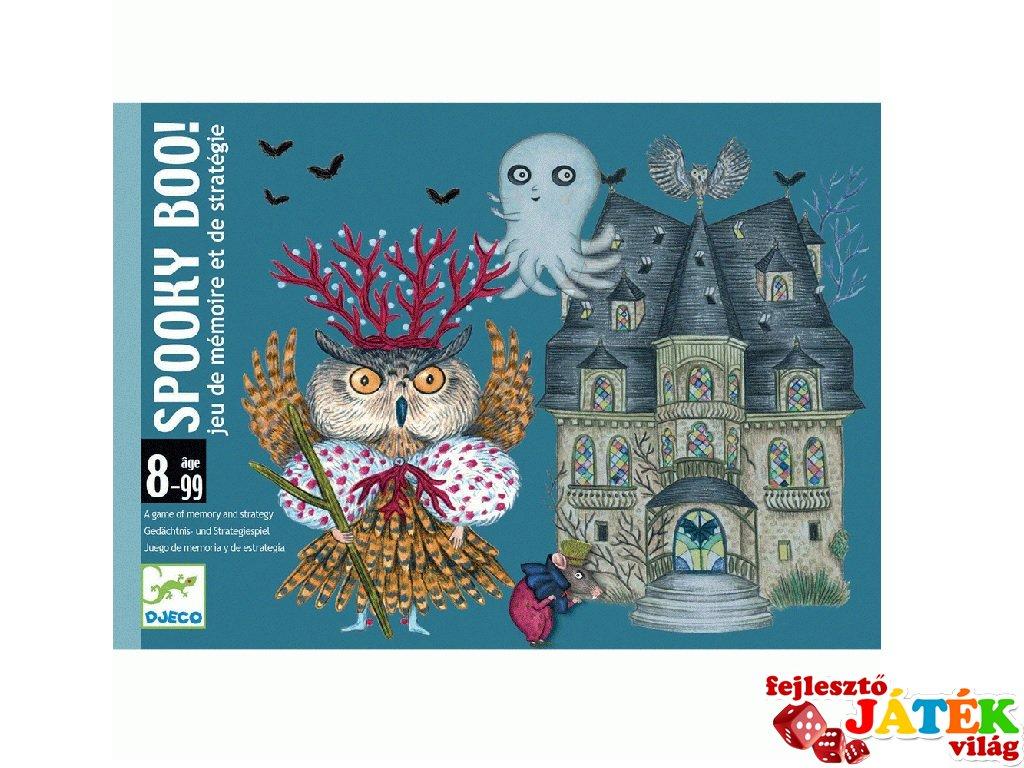 Spooky Boo! Djeco  memória- és stratégiai kártyajáték - 5098 (8-99 év)