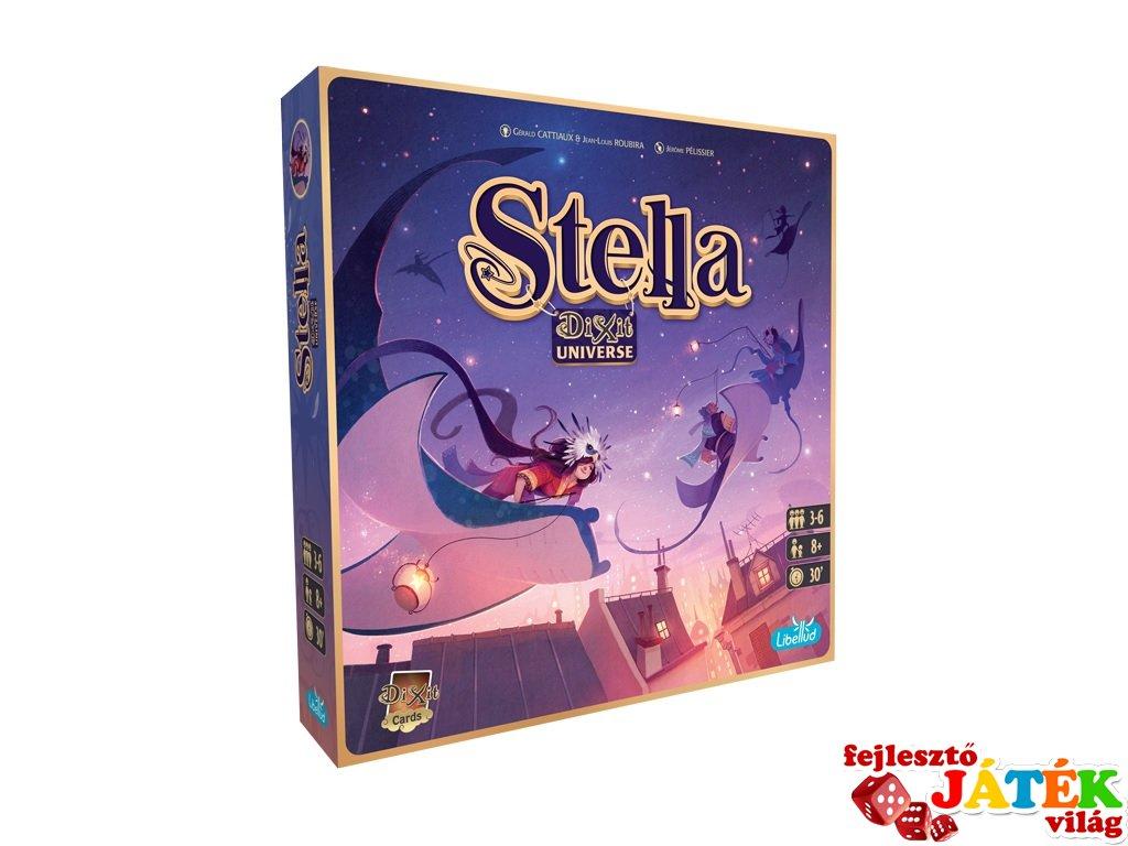 Stella, asszociációs Dixit típusú családi társasjáték (8-99 év)