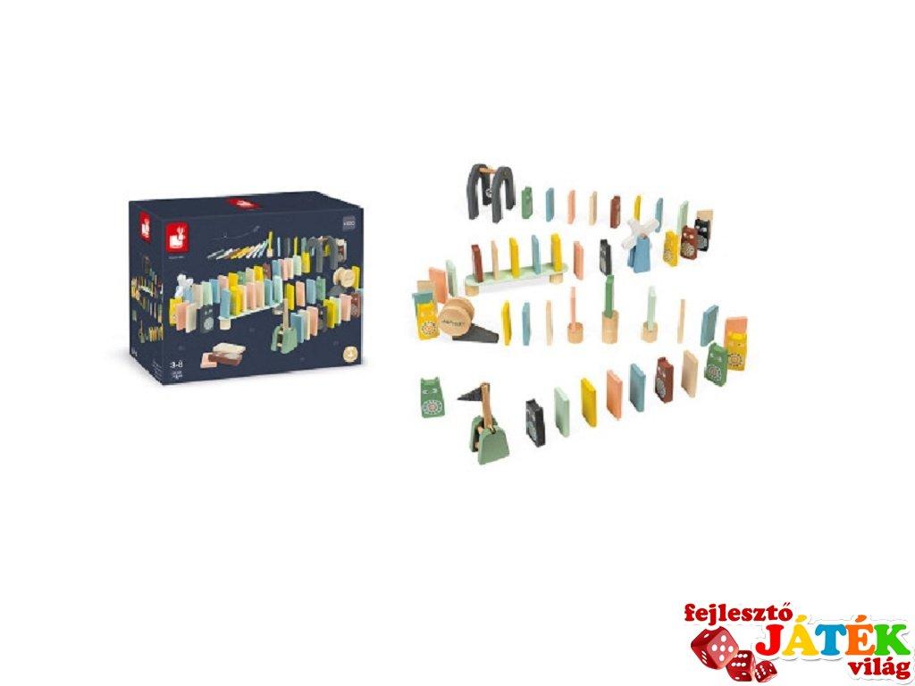 Sweet cocoon 100 db-os dominó, Janod fa készségfejlesztő játék (3-6 év)