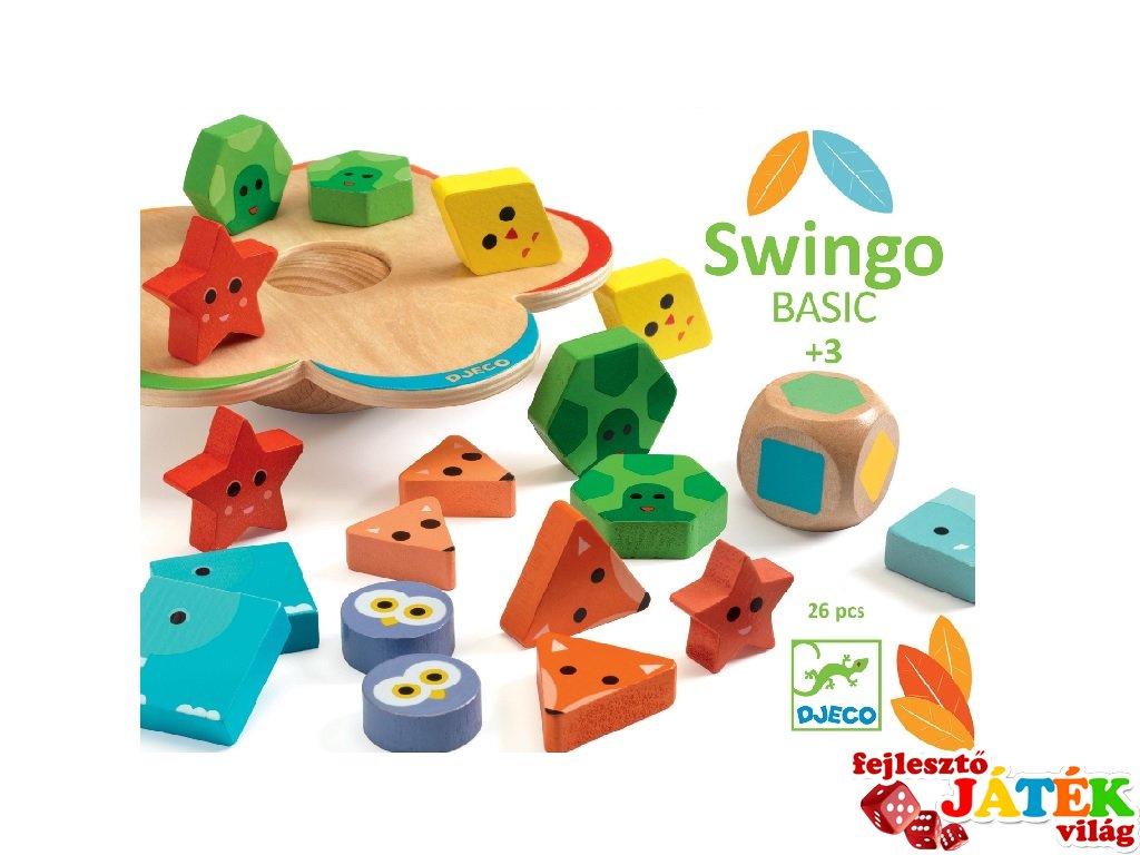 Swingo Basic, Djeco egyensúlyfejlesztő játék fából - 6215 (3-6 év)